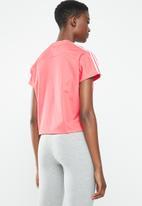 adidas Originals - 3 stripes short sleeve tee -  pink