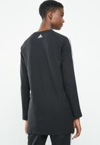 adidas - MH boss long sleeve tee - black & white