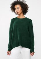 edit - Boxy wide hemline sweater - green