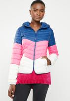 ONLY - Demi blocked hooded jacket - multi