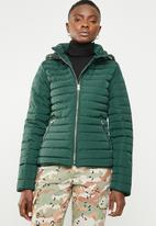 Tokyo Laundry - Ginger hooded puffer jacket - green