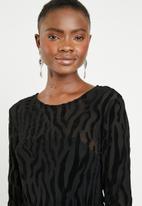 ONLY - Flikka long sleeve dress - black