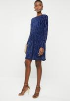 ONLY - Flikka long sleeve dress - blue