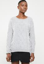 Tokyo Laundry - Caphis cable knit chenille jersey - grey