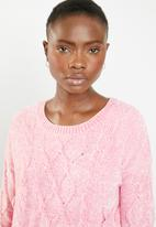 Tokyo Laundry - Caphis cable knit chenille jersey - pink