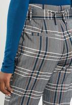 ONLY - Nina check margo pants - grey