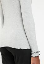 ONLY - Ida long sleeve turtleneck top - grey
