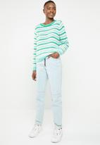 ONLY - Kelly long sleeve stripe pullover - green