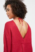 Tokyo Laundry - Tiah twist detail jersey - red