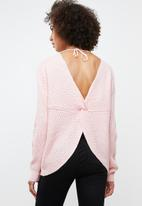 Tokyo Laundry - Tiah twist detail jersey - pink