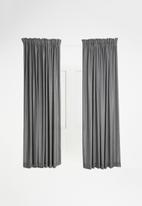 Sixth Floor - Taped curtain - charcoal