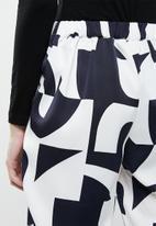Vero Moda - Boldonia hilma ankle pants - white & navy
