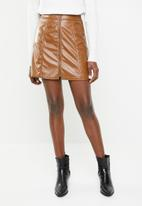 Superbalist - A -line mini skirt - tan
