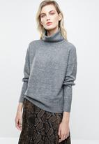 ONLY - Drea long sleeve roll neck pullover - grey
