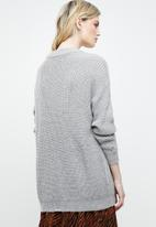 ONLY - Safina long sleeve long pullover top - grey
