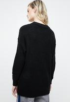 ONLY - Safina long sleeve long pullover top - black
