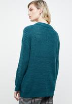 ONLY - Safina long sleeve long pullover top - blue