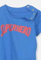 Cotton On - Short sleeve superhero tee - blue
