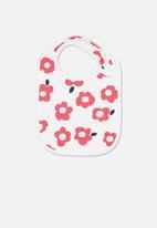 Cotton On - The baby bib - white & pink