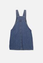 Cotton On - Denim 90s pinafore - blue