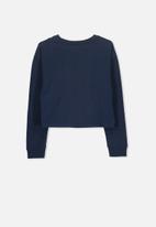 Cotton On - Drop shoulder long sleeve tee - navy