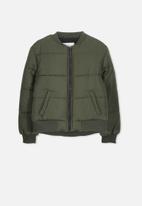 Cotton On - Hybrid bomber jacket - khaki
