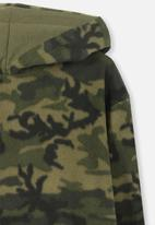 Cotton On - Camo print hoodie - green