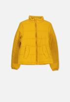 Cotton On - Adventurer puffer jacket - yellow