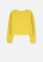 Cotton On - Drop shoulder long sleeve tee - yellow