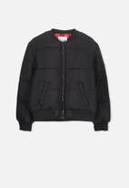 Cotton On - Hybrid bomber jacket - black