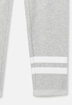 Cotton On - Track pant - grey & white