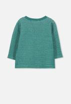 Cotton On - Button long sleeve tee - green