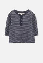 Cotton On - Button long sleeve tee - navy