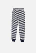 Cotton On - Supersoft stripe trackpant - navy