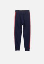 Cotton On - Urban track pant - navy & red