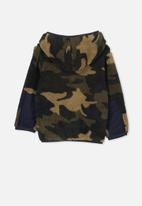 Cotton On - Teddy hoody - black & olive