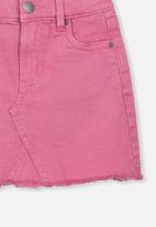 Cotton On - Finn denim skirt - pink