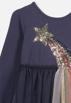 Cotton On - Long sleeve tulle dress - navy