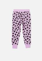 Cotton On - Leopard trackpant - purple
