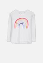 Cotton On - Penelope long sleeve tee - white