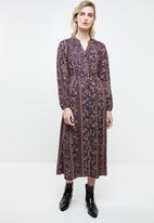 Superbalist - Mandarin collar shirt dress - multi
