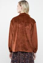 Superbalist - Velour over-shirt - rust