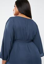 STYLE REPUBLIC PLUS - Kimono Maxi dress -navy