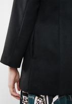 STYLE REPUBLIC - Military inspired wool-like coat - black