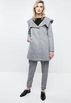 ONLY - Maddie hooded coat - light grey melange