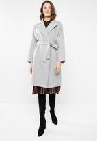 STYLE REPUBLIC - Dolman sleeve maxi coat - grey