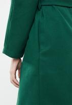 STYLE REPUBLIC - Dolman sleeve maxi coat - bottle green