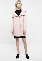 ONLY - Maddie hooded coat - rose smoke melange