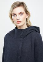 ONLY - Maddie light hooded long coat - navy