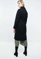 ONLY - Emilia long trench coat - black